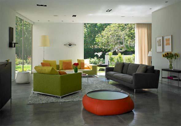 Ambientes decorados com cimento queimado 020