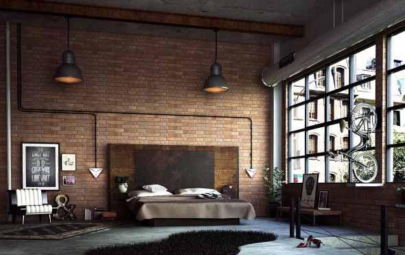 Decoração industrial em quarto masculino 016