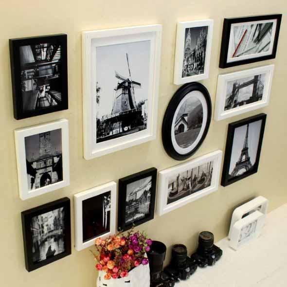 Ideias de decoração com paredes de molduras 004