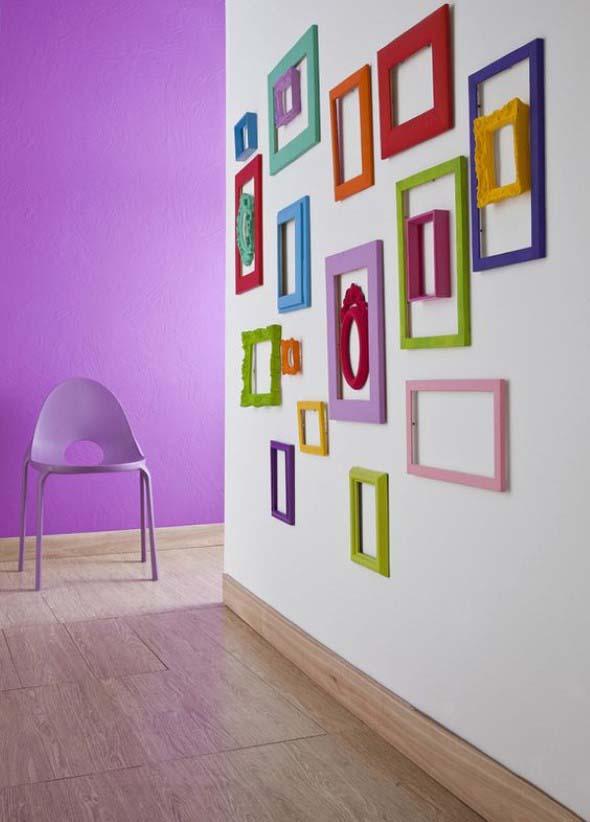 Ideias de decoração com paredes de molduras 006
