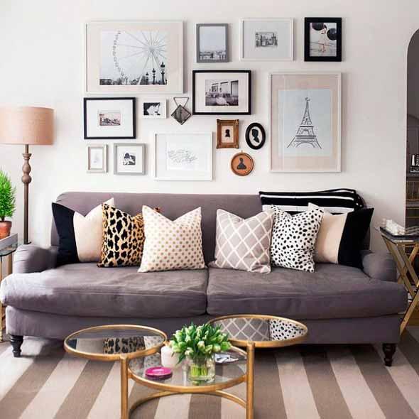 Ideias de decoração com paredes de molduras 007
