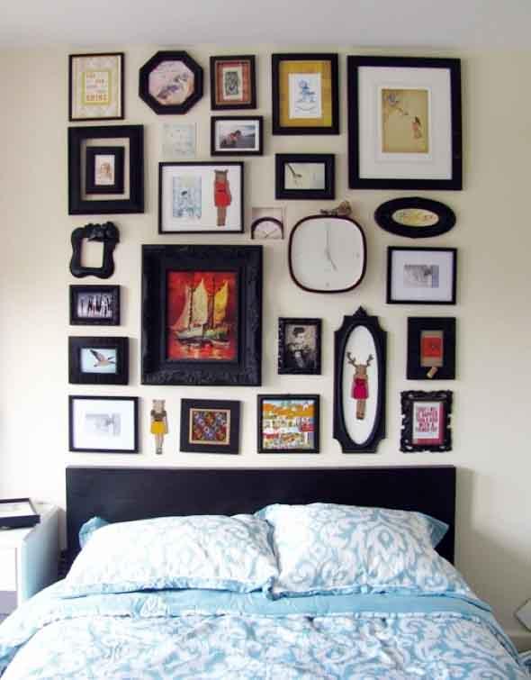 Ideias de decoração com paredes de molduras 008