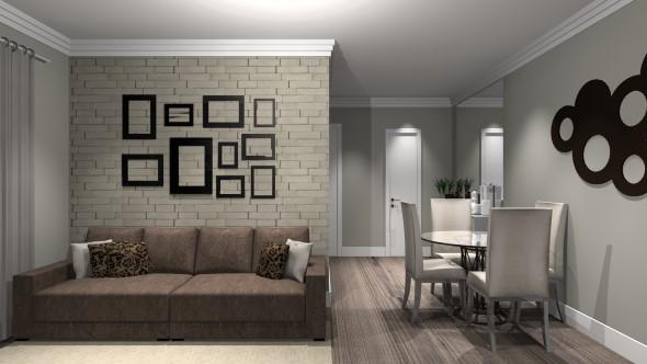 Ideias de decoração com paredes de molduras 012