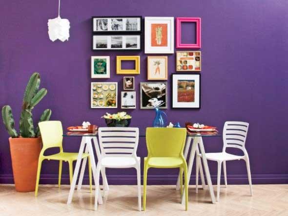 Ideias de decoração com paredes de molduras 016