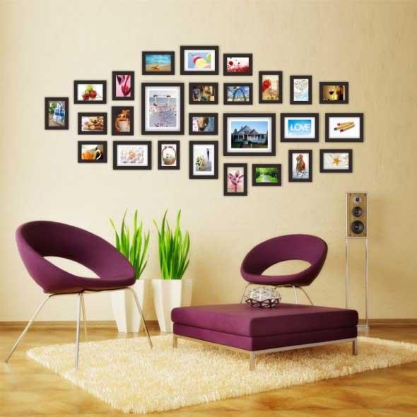 Ideias de decoração com paredes de molduras 018