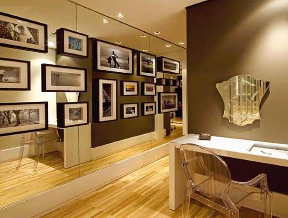 Ideias de decoração com paredes de molduras 020