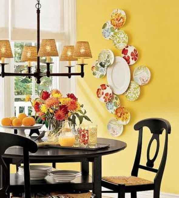 Pratos na parede decoração 004