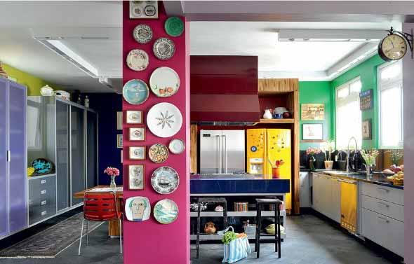 Pratos na parede decoração 018