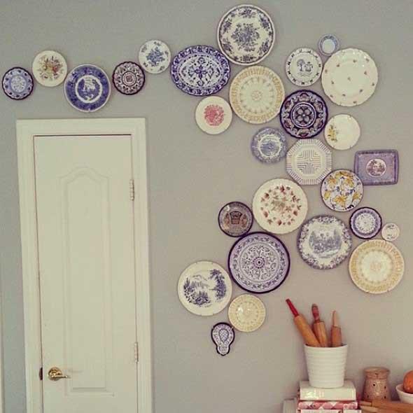 Pratos na parede decoração 020