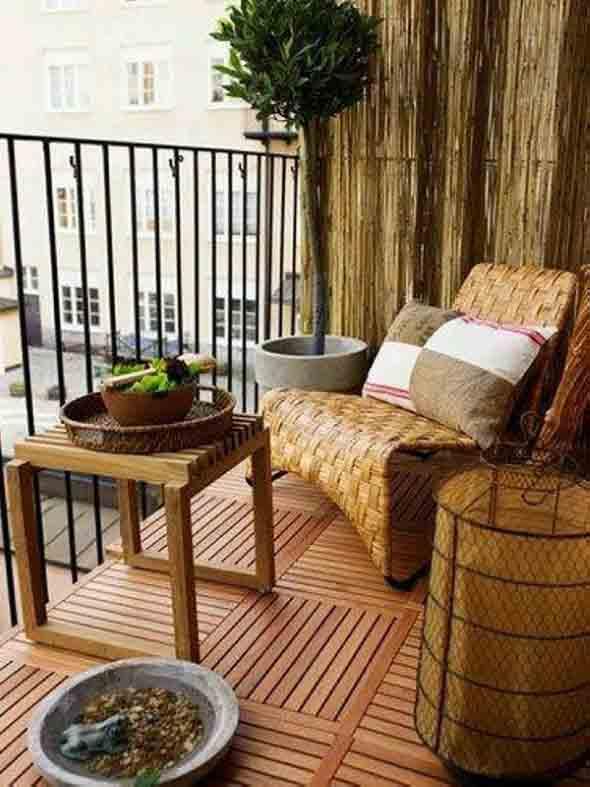 Decks de madeira na varanda 002