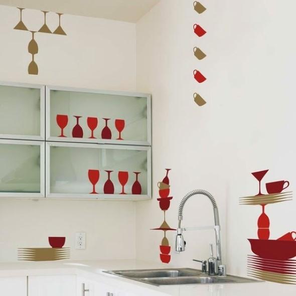 Decore sua cozinha com adesivos 005