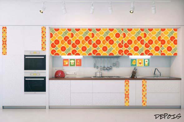 Decore sua cozinha com adesivos 015