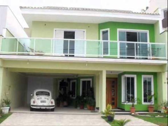 Fachadas de casa com vidros 010