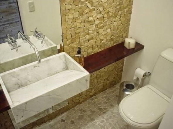 Pias de banheiro com estilo futurista 005