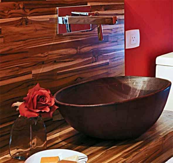 Pias de banheiro com estilo futurista 016