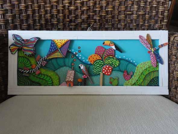 Quadros de parede em 3D criativos 016