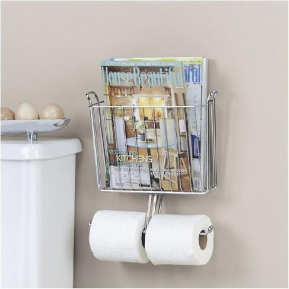 Suporte para jornais e revistas no banheiro 001