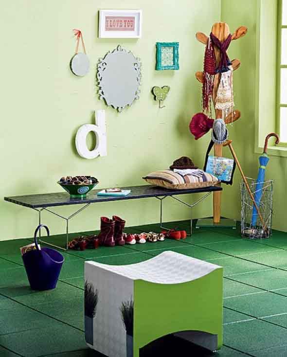 Chão colorido na decoração 016