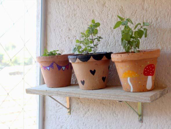DIY - Como pintar vasos de cerâmica 010