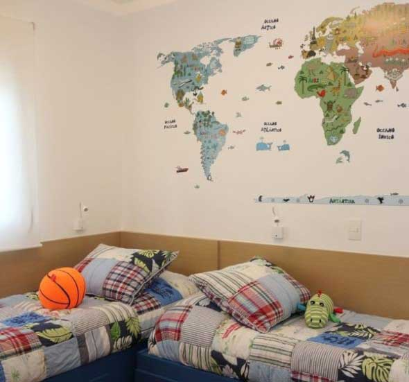 Decorar o quarto com mapa mundi 005
