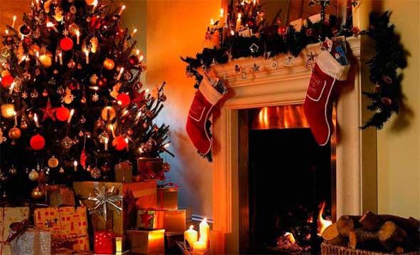 Dicas para enfeitar a lareira para o Natal 001