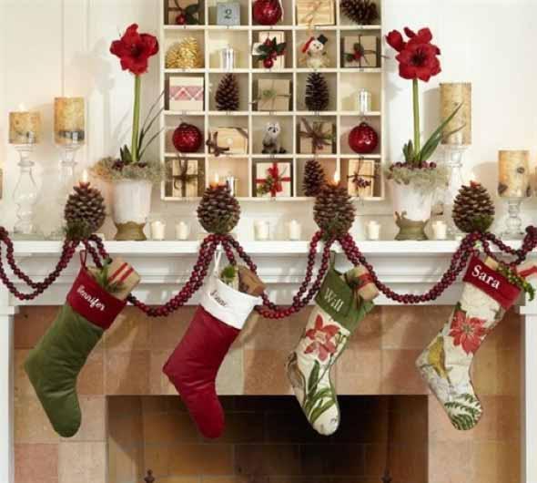 Dicas para enfeitar a lareira para o Natal 010