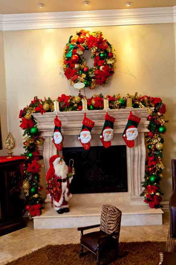 Dicas para enfeitar a lareira para o Natal 012