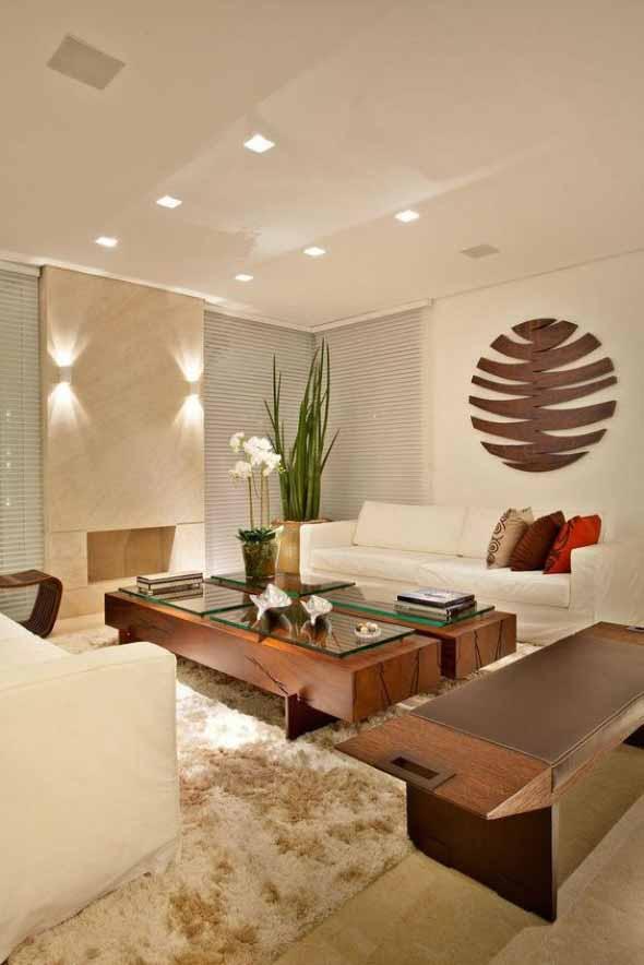 Madeira rústica para decorar a sala de estar 015