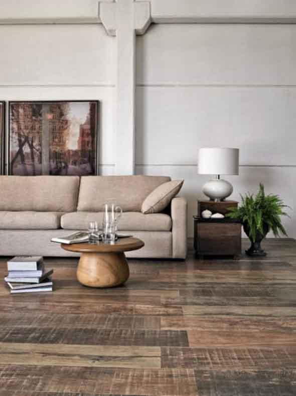 Madeira rústica para decorar a sala de estar 018