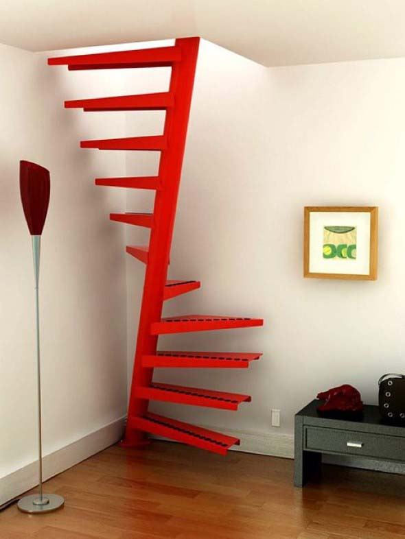 Modelos de escadas casas pequenas 005