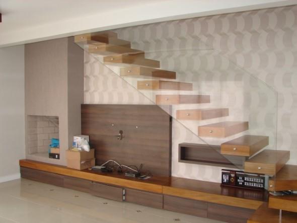 Modelos de escadas casas pequenas 007