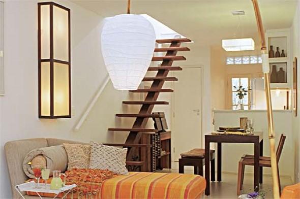 Modelos de escadas casas pequenas 011