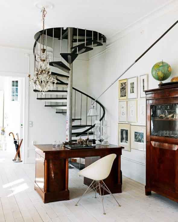 Modelos de escadas casas pequenas 016