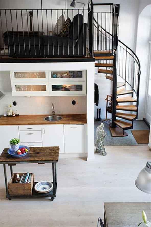 Modelos de escadas casas pequenas 018
