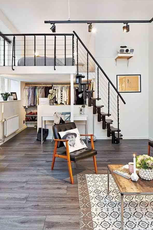 Modelos de escadas casas pequenas 020