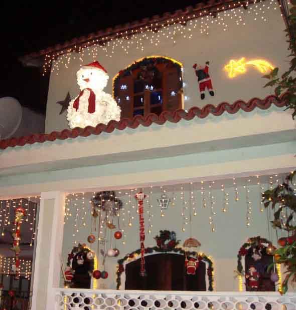Papai Noel na decoração de natal 005