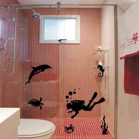 Adesivos criativos para Box de banheiro 004