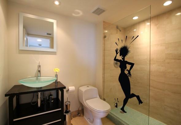Adesivos criativos para Box de banheiro 013