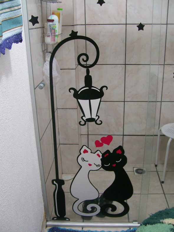Adesivos criativos para Box de banheiro 016