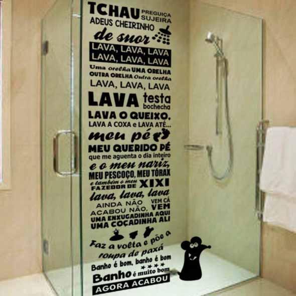 Adesivos criativos para Box de banheiro 018