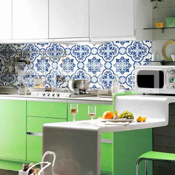 Azulejos estampados na cozinha 006