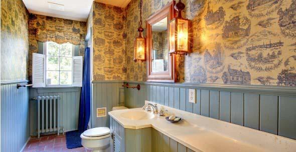 Banheiro em estilo retro 006