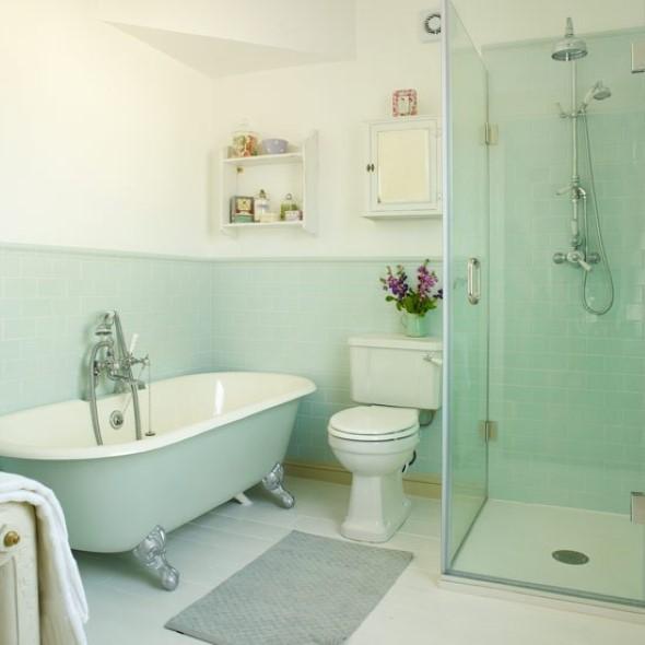 Banheiro em estilo retro 008