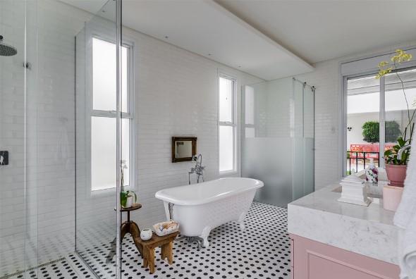 Banheiro em estilo retro 017