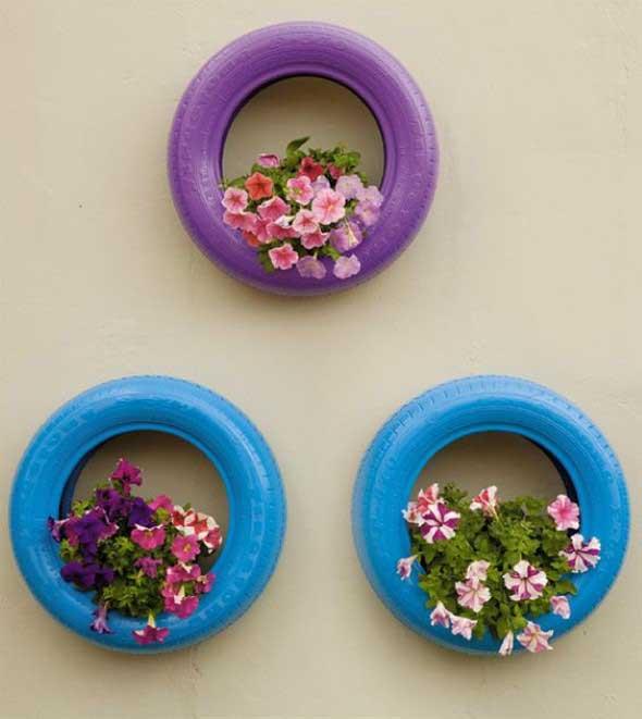 Como organizar flores com vasos artesanais 001