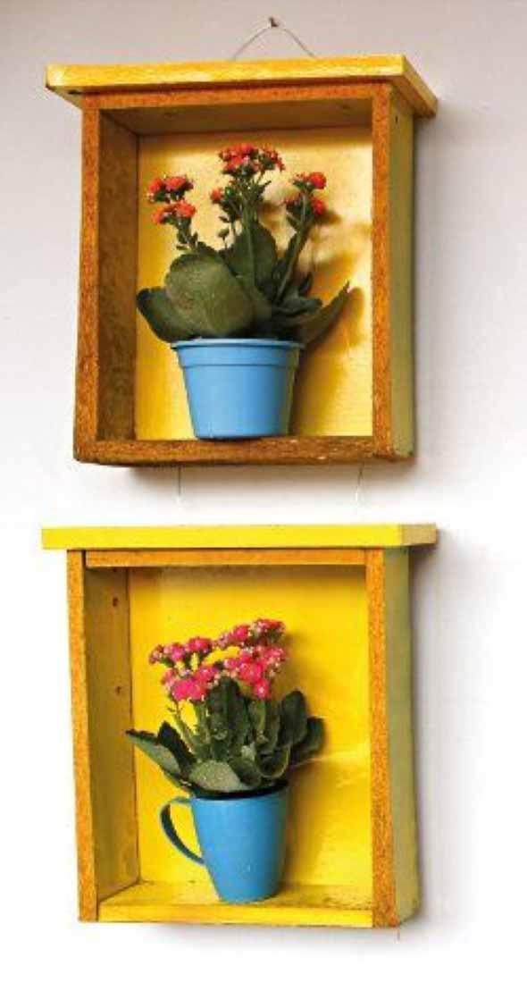 Como organizar flores com vasos artesanais 002