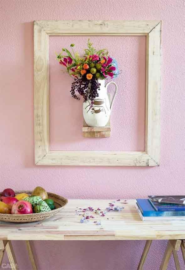 Como organizar flores com vasos artesanais 004