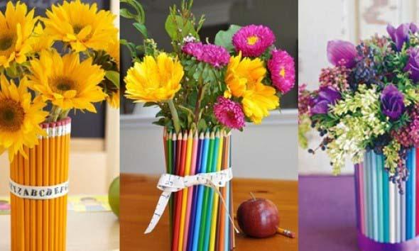 Como organizar flores com vasos artesanais 008
