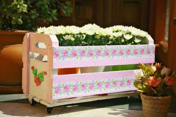 Como organizar flores com vasos artesanais 016