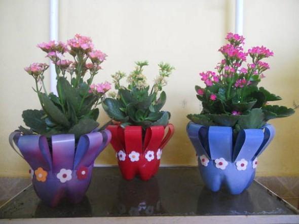 Como organizar flores com vasos artesanais 019